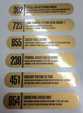 • STAR TREK • GOLD FOIL GNDN LCARS PROP REPLICA LABEL DECALS • SET OF SIX