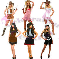 WILD WEST COWGIRL AND INDIAN FANCY DRESS COSTUME ASSTD