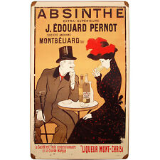 Vintage Absinthe J. Edouard Pernot Metal Bar Sign - Pub Wall Liquor Display Art
