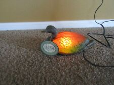 Tiffany Glass Duck Table Or Night Light/Lamp~With Tag