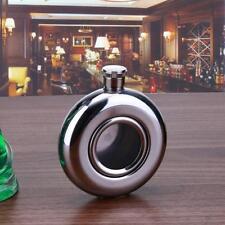 5 oz Drink Liquor Stainless Steel Pocket Round Hip Flask Screw Cap Wine Bottle