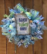 Beach Vibes Only Spring or Summer Wreath for any occasion, Beach Wreath, Ocean W