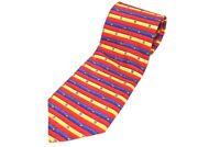 Vintage Robert Talbott Studio Necktie Silk Tie Whimsical Striped Colorful Bright