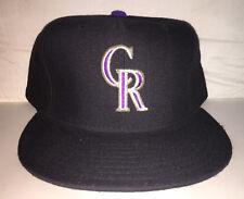 Vtg Colorado Rockies NEW ERA MLB Baseball size 7 5/8 fitted hat cap 90s rare