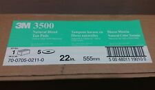"""New listing 3M Natural Blend Tan 22"""" Burnishing Floor Pad 3500, Case of 5 Pads"""