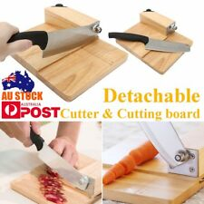 Stainless steel 148mm Biltong Cutter Biltong & Jerky Slicer + Oak Cutting Board