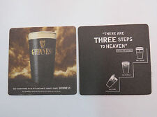 Guinness Beer Bar Coaster: There Are Three Steps To Heaven ~  Pour-Settle-Top Up