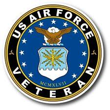 US AIR FORCE VETERAN DECAL STICKER 3M USA MADE TRUCK WINDOW WALL CAR LAPTOP