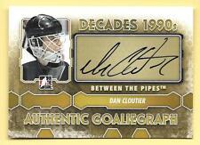 12/13 Between The Pipes Goalie Graphs #DC Dan Cloutier Autograph Card SP