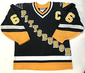 MARIO LEMIEUX PITTSBURGH PENGUINS 1993 AUTHENTIC AWAY CCM HOCKEY 3rd JERSEY