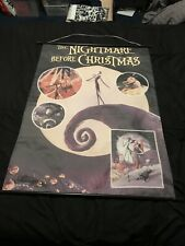"Tim Burton's Nightmare Before Christmas Fabric Wall Scroll Disney 42""X 30"""