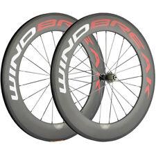 WINDBREAK 700C Wheelset 88mm Clincher Carbon Bike Wheels Basalt Brake Surface