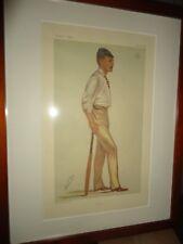 Vanity Fair Cricket 1881 Kent Litho Matted Framed Vincent Brooks Day & Son Lith