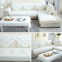 Lace Embroidery Geely flower tablecloth White Flower Tablecloth Sofa Towel Cover