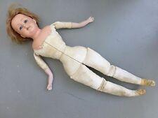 sehr alte Puppe ⭐ Celluloid - Kopf Lederkörper Porzellanarme ⭐ Schildkröt Nr. 18
