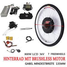 "Hinterrad 36V 800W 28"" Zoll LCD E-Bike Conversion Kit Elektrofahrrad Umbausatz"