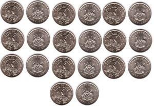 Uganda - 10 pcs x 50 Cents 1976 aUNC Lemberg-Zp
