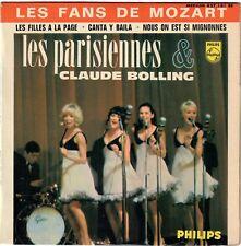 LES PARISIENNES CLAUDE BOLLING Les Filles à La Page Fans de Mozart 1965 Girl EP