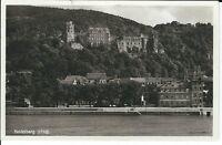 """Ansichtskarte Heidelberg """"Schloss und Neckar"""" - 1938 - schwarz/weiß"""