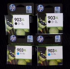 HP 903XL x 4 OFF = 2 Nero T6M15AE + 2 x T6MO3AE CIANO tutte ottime GENUINE New