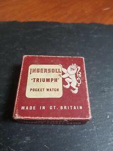 Vintage ingersoll pocket watch Box