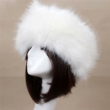 Women Russian Thick Fluffy Cap Fake FAUX Fur Headband Hat Winter Ear Warmer Ski