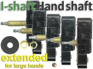 Quartz movement, I-shaft, Extended High torque for large hands, Silent sweep UK
