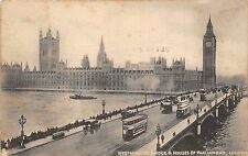 BR58047 double decker bus chariot ship  the  houses of parliament   london   uk