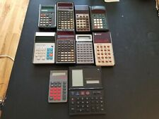 Lot Of 10 Electronic Calculators For Parts Or Repair