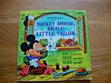 Disneyland Record and Book - The Story of Mickey Mouse Brave Little Tailor