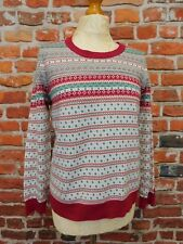 Ladies M&S Per Una long sleeve patterned jumper UK 14 ski Winter holidays