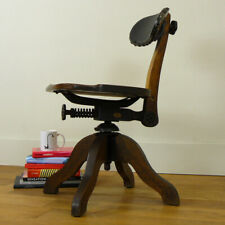 Early 20th Century Industrial Swivel Oak Work Chair