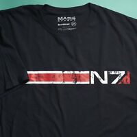 N7 Mass Effect 2 3 Trilogy T-Shirt (LARGE) SPACE Loot Gaming Crate December 2016