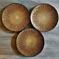 Target Home by Gibson Lotus Grove Set of 3 Dinner Plates: Modern Stoneware