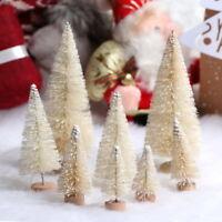 8Stk Weiß Mini Weihnachten Baum Weihnachtsbaum Tannenbaum Christbaum Deko PD
