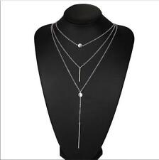 Fashion Charm Jewelry Pendant Chain Multi Layer Plated Gold Choker Necklace Silver
