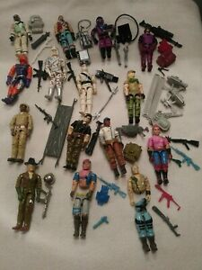GI Joe ARAH Vintage Action Figures Lot 15 With Weapons Accessories 80's
