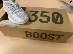 NIB Adidas YEEZY BOOST 350 V2 STATIC Size  6.5 US - EF2905  White/Gray