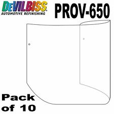 DeVilbiss 10 Pack Official Tear-Off Visor Protectors for PROV-650 Air Fed Masks