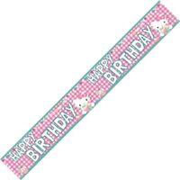 Genuine Hello Kitty Banner Happy Birthday Party Celebration Child Girl Boy