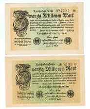 GERMANY REICHSBANKNOTE 20 MILLION MARK 1923/sold as each