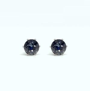 Black Diamond Earrings NON-TARNISH Stud Swarovski 6mm Crystal 14K Gold Rhodium