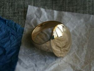 *Retired & UNIQUE* James Avery RAISED OVAL Ring 14k Gold Size 8
