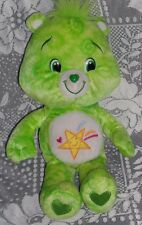 "CARE BEARS OOPSY BEAR w/Yellow Star plush Tie Dye Green  14"" stuffed 2007"