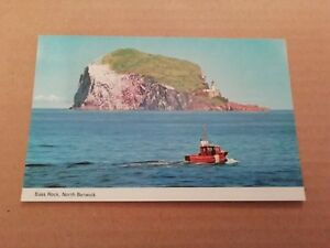 BASS ROCK NORTH BERWICK ~ REAL COLOUR PHOTO POSTCARD POSTED 1983