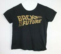 Back To The Future Men's Black T-Shirt Size M