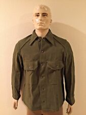 NEW UNISSUED U.S. ARMY OLIVE GREEN WOOL COLD WEATHER FIELD SHIRT (MEDIUM)