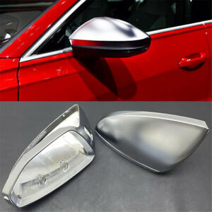 For Audi A6 C8 A7 A8 D5 2019 Chrome Side Wing Rearview Mirror Replace Cover Cap