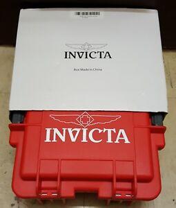 INVICTA 3 SLOT RED Watch DISPLAY CASE COLLECTORS BOX