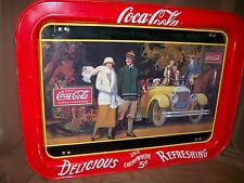 VINTAGE 1987 COKE COCA-COLA TELEVISION BED SERVING TRAY (IMPERFECT)